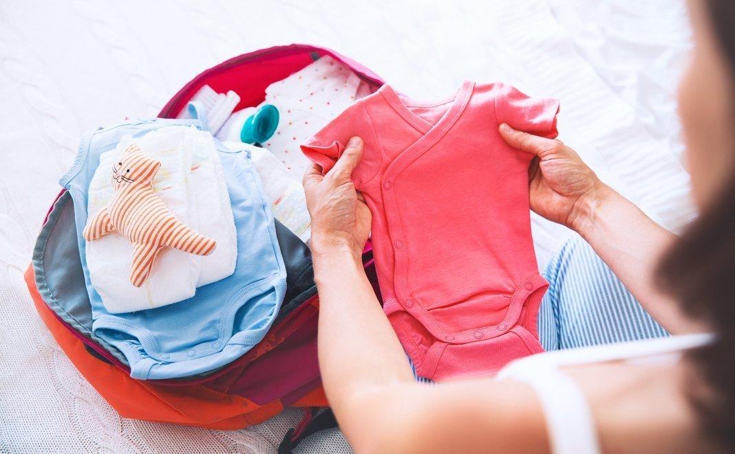 Babysachen packen