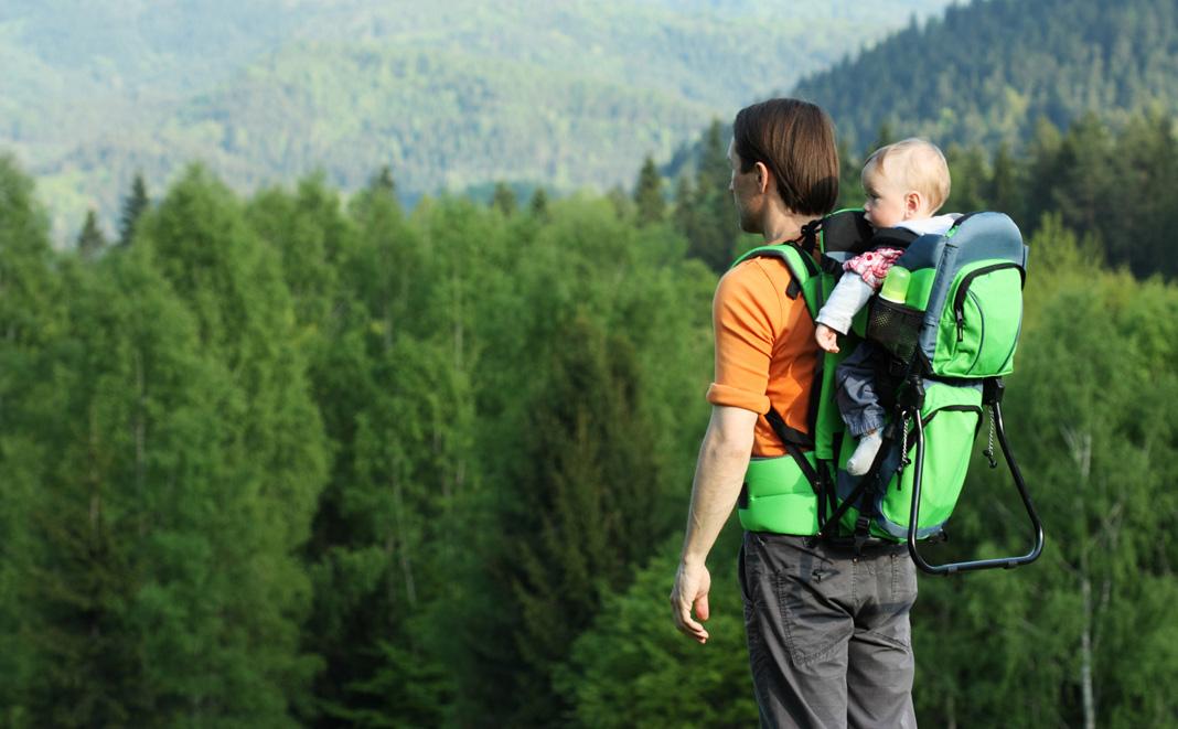 Wandern mit Babys in den Bergen