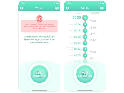 Wehenzähler App für iOS Geräte