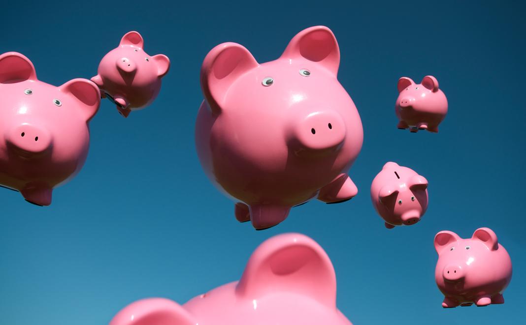 Sparschweine für die private Altersvorsorge